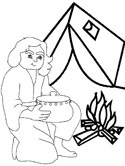 esaus birthright coloring pages - photo#16