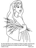 Ruth Naomi Coloring Pages