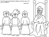 Fiery Furnace Coloring Pages Shadrach Meshach And Abednego Coloring Page