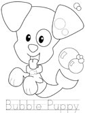 Bubble Puppy learn to print tracer page
