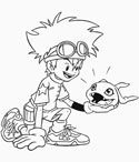 Digimon coloring page