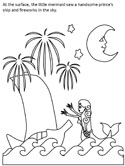 Little Mermaid coloring page