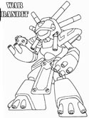 War Bandit Coloring Page