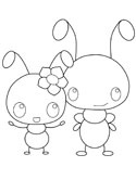 the ants coloring page - Ant Coloring Page
