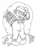 raggedy dolls coloring page