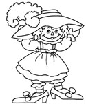 Raggedy Ann and Andy Coloring Pages