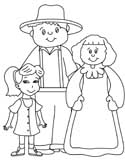 farmers family coloring page