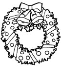 Christmas Wreaths And Holly Coloring Pages