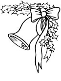 Christmas bell coloring page