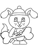 Christmas dog coloring page