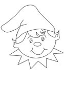 christmas coloring page christmas elf face