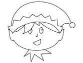 christmas coloring page christmas elf coloring page