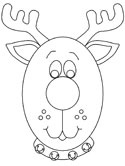 Red Nosed Reindeer Coloring Page