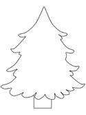evergreen tree coloring pages - photo#2
