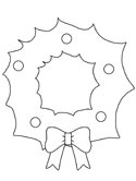 photograph about Printable Wreath Template called Xmas Wreaths and Holly Coloring Internet pages