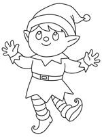 Twas the Night Before Christmas coloring page