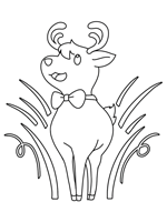 Rudolph the Red-Nosed Reindeer Coloring Pages