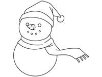 The Wee Snowman Coloring Pages