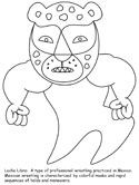 Mexican lucha libra coloring page