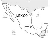 map of mexico coloring page