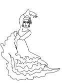 flamenco dancer coloring pages