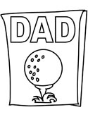 father's day golf coloring page