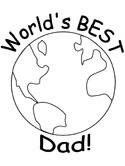 world's best dad coloring page
