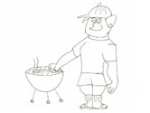 bbq coloring page