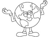 world coloring page
