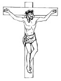 crucifixion of Jesus coloring page