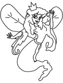 Fairy Colouring Page