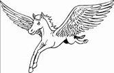 pegasus coloring pages for children to print and color.