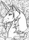 monsters and creatures - unicorn coloring pages