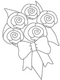 bridal bouquet coloring page