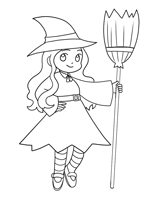 Witches Coloring Pages