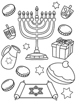 jewish coloring page