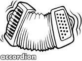 accordion coloring page
