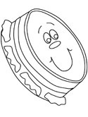 musical instruments - tamborine coloring page