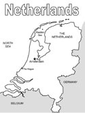 netherlands map coloring page