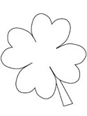 saint patricks day clover coloring page
