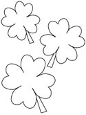 saint patricks day shamrock coloring page