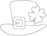 st patricks day hat coloring page