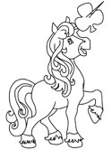 St. Patrick's Day unicorn coloring page