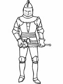 fantasy and medieval coloring page