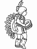 native american coloring pages - Native American Coloring Pages