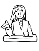 business woman coloring page