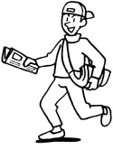 paper boy coloring page