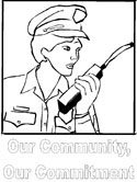 police coloring page