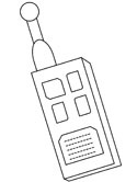 police radio coloring page