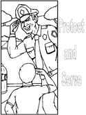 protect and serve coloring page